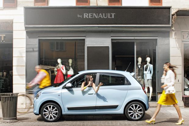 The Renault Twingo: great to park, but lacks vanity mirror for those pit stops