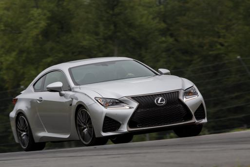 Blazing a trail: The RC F is the most powerful V8 made by Lexus