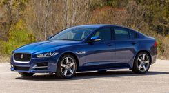 IMPECCABLE DRIVING CHARACTERISTICS: the new Jaguar XE really puts it up to the BMW 3-Series