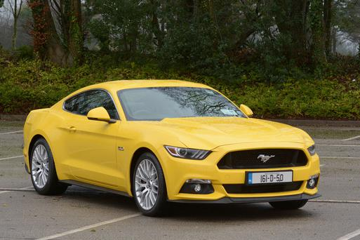 The Ford Mustang, which has now been made for the European market