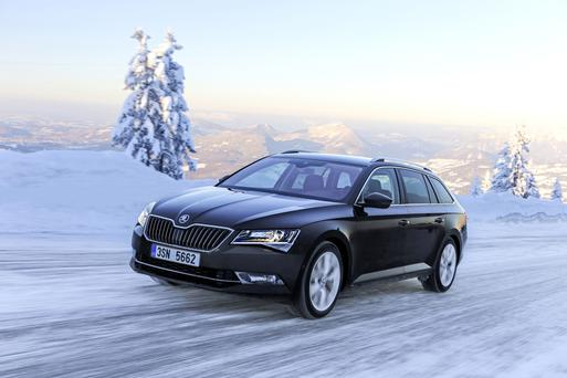 Impressive roominess: Skoda Superb estate.