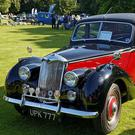 Beauty: A 1954 Riley RME 1.5 Litre saloon at Capel Manor, Enfield, London, England