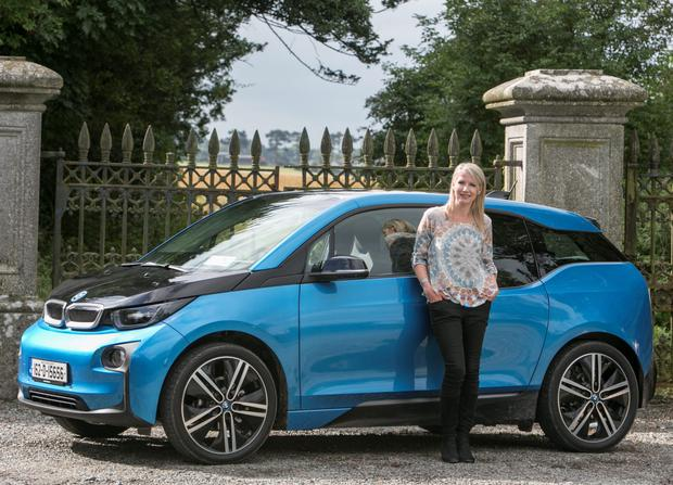 Geraldine Herbert with the new BMW i3 that combines desirability and practicality. Photo: Kyran O'Brien