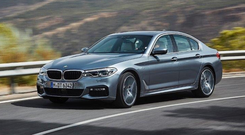 Sheer bliss: The classy BMW Five Series is a joy to drive on mountainous roads