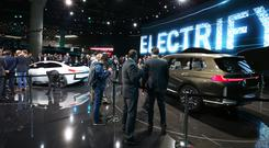 Electric dreams: BMW's cars of the future at the Frankfurt Motor Show, where most of the electric-powered vehicles were concept cars