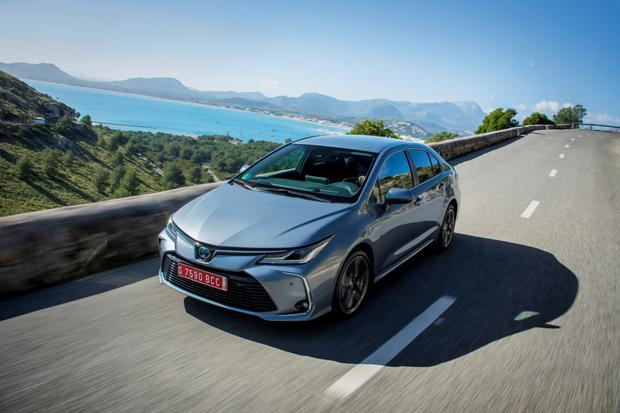 Big plus: the new Toyota Corolla hybrid saloon is roomier than the hatch