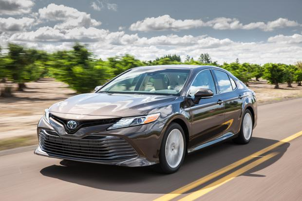 In demand: the new Toyota Camry hybrid saloon