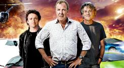 Richard Hammond, Jeremy Clarkson and James May of 'Top Gear'.