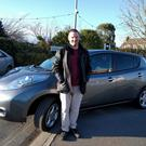 Weighing up the benefits: Thomas McGuire bought his Nissan Leaf in 2016 and has covered 40,000km annually since