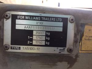 It's important to find your trailer's maximum weight from the tow frame