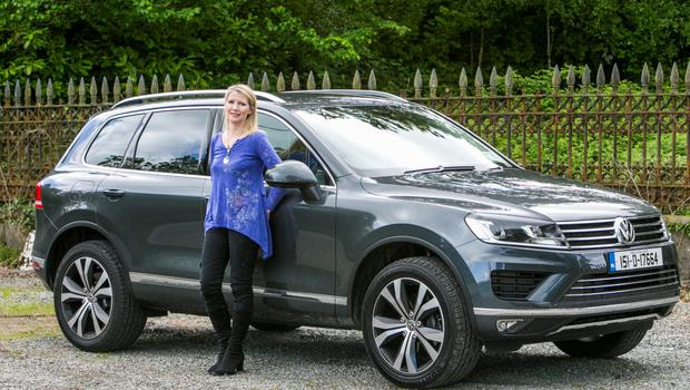 Geraldine Herbert and the VW Toureg