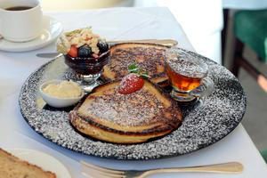 Pancakes made by Brian Heaton of Castlewood House, Dingle. Photo: Don MacMonagle