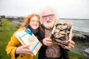 Ciara O'Halloran and her father Gerry, of Red Bank Food Company - among 21 seafood producers selected as members of the Taste the Atlantic – A Seafood Journey trail, developed by BIM in partnership with Failte Ireland. Picture: Sean Curtin True Media.