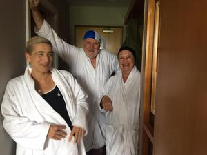 """""""Coronavirus and Covid did not exist as we donned our swimmers covered up with white bath robes and laughed our way to the pool,"""" says Eileen Manning of a trip to Sligo."""