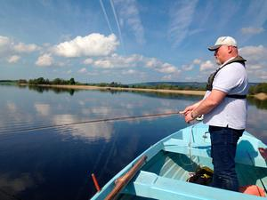 Eoin O'Hagan, fishing on Lough Derg