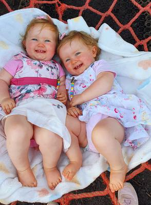 """""""2020: the year that reminded us that the little things really are the big things."""" Grace Hill shared this photo of her twins Bonnie and Joy, on holidays at the Amber Springs Hotel in Co Wexford."""
