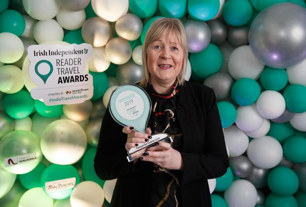Jennifer Callister, Head of Ireland, Royal Caribbean, at the Irish Independent Reader Travel Awards. Photo: Fran Veale