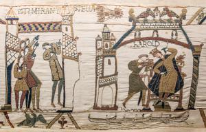 The Bayeux Tapestry panels showing Halley's Comet and King Harold's sacred vow