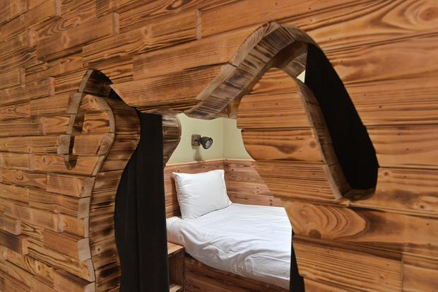 Inside the 'glampotel' at River Valley Holiday Park