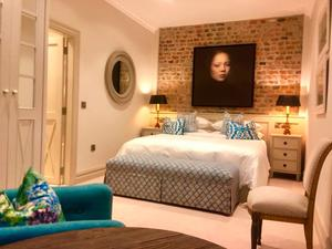 Duck Lodge (bedroom) at Marlfield House, Co. Wexford