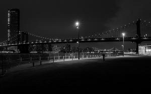 Standing between Brooklyn Bridge and Manhattan Bridge, by Richard Quinn (Twitter: @cycleireland)