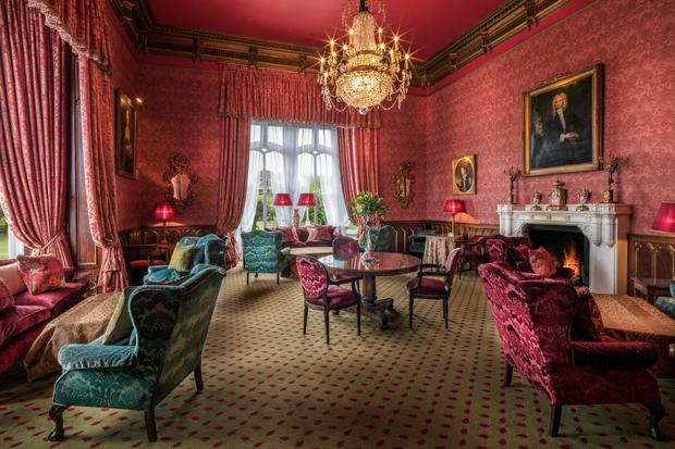 Dromoland's drawing room, after renovation