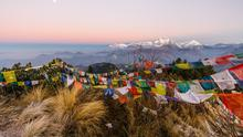 A piece of heaven: Poon hill prayer flags at sunrise