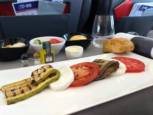 Nicola's meal on-board.