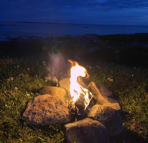"""Camping on a remote beach in Connemara, by Kate McMahon. """"The heat of the campfire combined with the sound of the waves was just heavenly. It made me so appreciate of the beauty of our counties in the West. Who needs foreign travel when you have strolls like this on your doorstep?"""""""