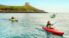 Group Kayaking at Dalkey Island, Dublin