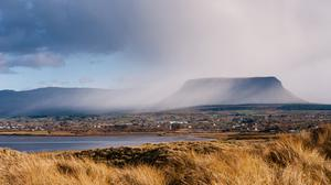 Fog rolling over Ben Bulben, as seen from Streedagh. Photo: Conor Doherty