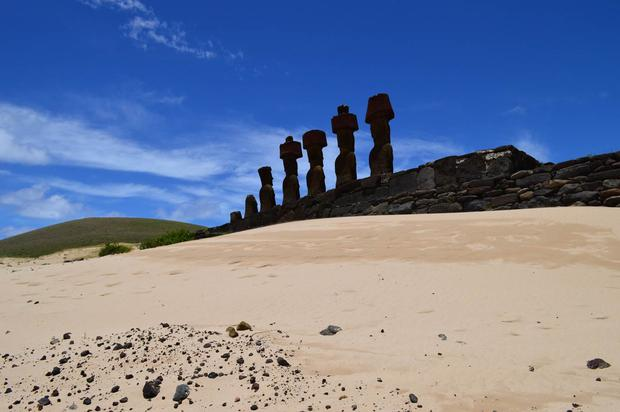 'In 2016 I quit my job and travelled across the globe to Easter Island; one of the most remote inhabited islands in the world,' says Louise Marlborough. 'Although I cannot travel any where further than 2km from home at the moment, I have those memories, and they are precious.'