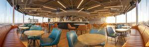 A panoramnic view of the new Gravity Bar at the Guinness Storehouse, Dublin