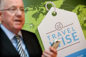 Minister Flanagan launches new TravelWise smartphone app. Photo: Maxwell Photography