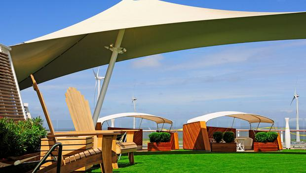 Celebrity Sihouette's Lawn Club cabanas. Photo: Celebrity Cruises