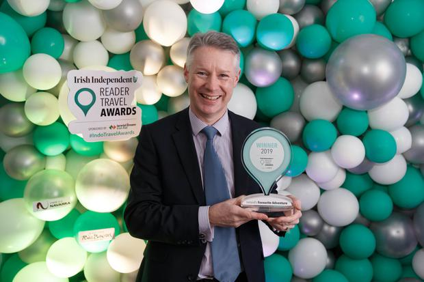 Michael Quinn, Director of Economic Development and Planning, Waterford City & County Council, at the Irish Independent Reader Travel Awards. Photo: ©Fran Veale