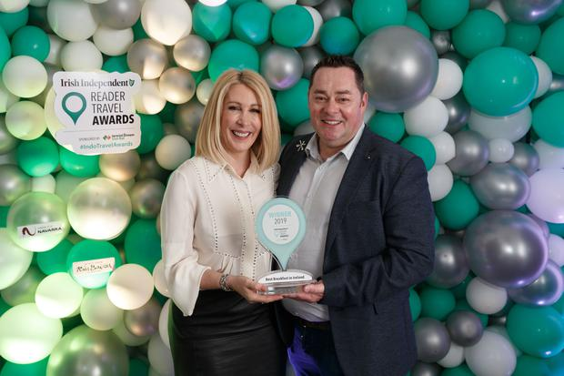 Neven and Amelda Maguire of MacNean House & Restaurant at the Irish Independent Reader Travel Awards. Photo: Fran Veale