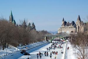 Ice skating on the Rideau Canal in Ottawa Canada. Photo: Getty