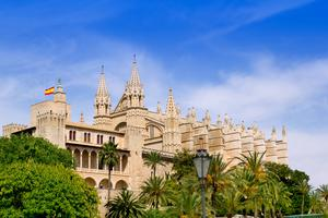 P is for Paradise, and Palma: With its port, the Castillo Bellver, its bustling streets and the cathedral, above, it's as classy a city as Barcelona