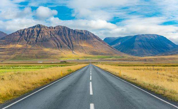 The open road in Iceland.  PA Photo / Alamy.