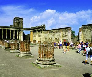 Tourists visiting the ancient city of Pompeii archaeological site, Pompeii