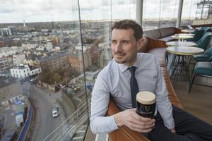 Pól Ó Conghaile at the new Gravity Bar in the Guinness Storehouse in Dublin. Picture: Arthur Carron.