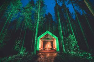 The Church Stone Shelter in the nature reserve of Kintulammi, Tampere (Finland), joins Tourism Ireland's Global Greening initiative. Pic – Laura Vanzo / Visit Tampere