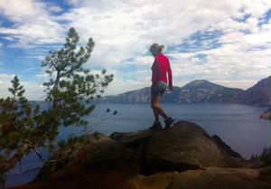 Deirdre Mullins at Crater Lake, Oregon. Photo: Twitter / @DeirdreMullins