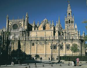 Seville's imposing cathedral.