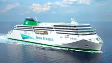 Irish Ferries' new €147m cruise ferry  (artist's impression from front)