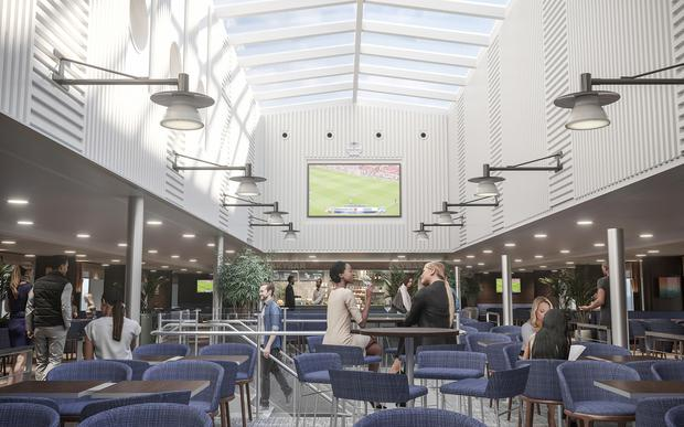 An artist's impression of the Sky Bar on Stena Estrid