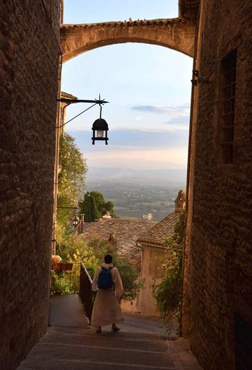 'A picture I took of a monk walking down beautiful steps between buildings in the ancient town of Assisi, Umbria, Italy. This is one place I would love to visit again in the future,' says photographer Damien Eagers (Twitter: @deagers)