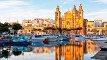 Valletta harbour at golden hour