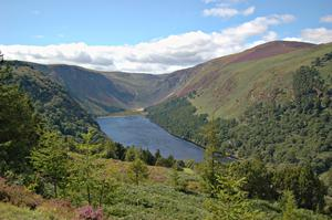 Climb up past the monastic settlement at Glendalough